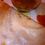 Mysore Dosa with Sambar and Chutneys