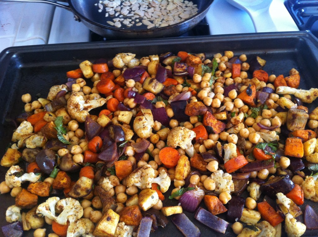 Moroccan Roasted Vegetables w/ Cous Cous & Feta - Mayabugs's Recipes