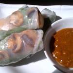 Vietnamese Mushroom Spring Rolls & Peanut Dipping Sauce