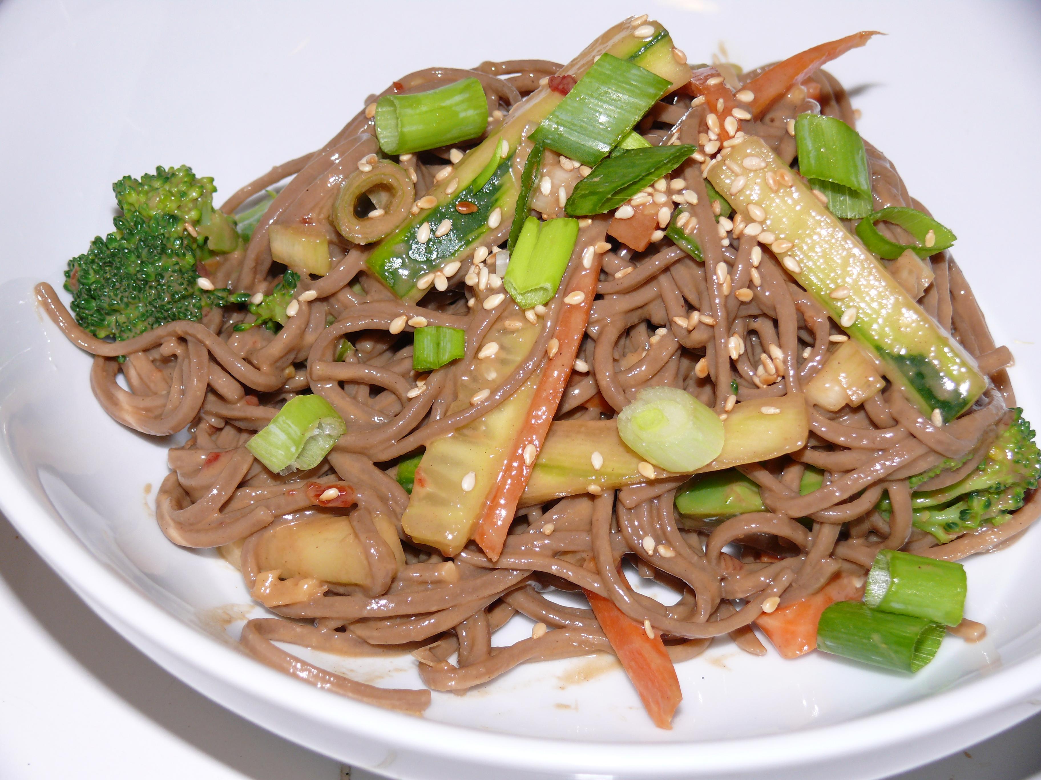 Cold Sesame Soba Noodles