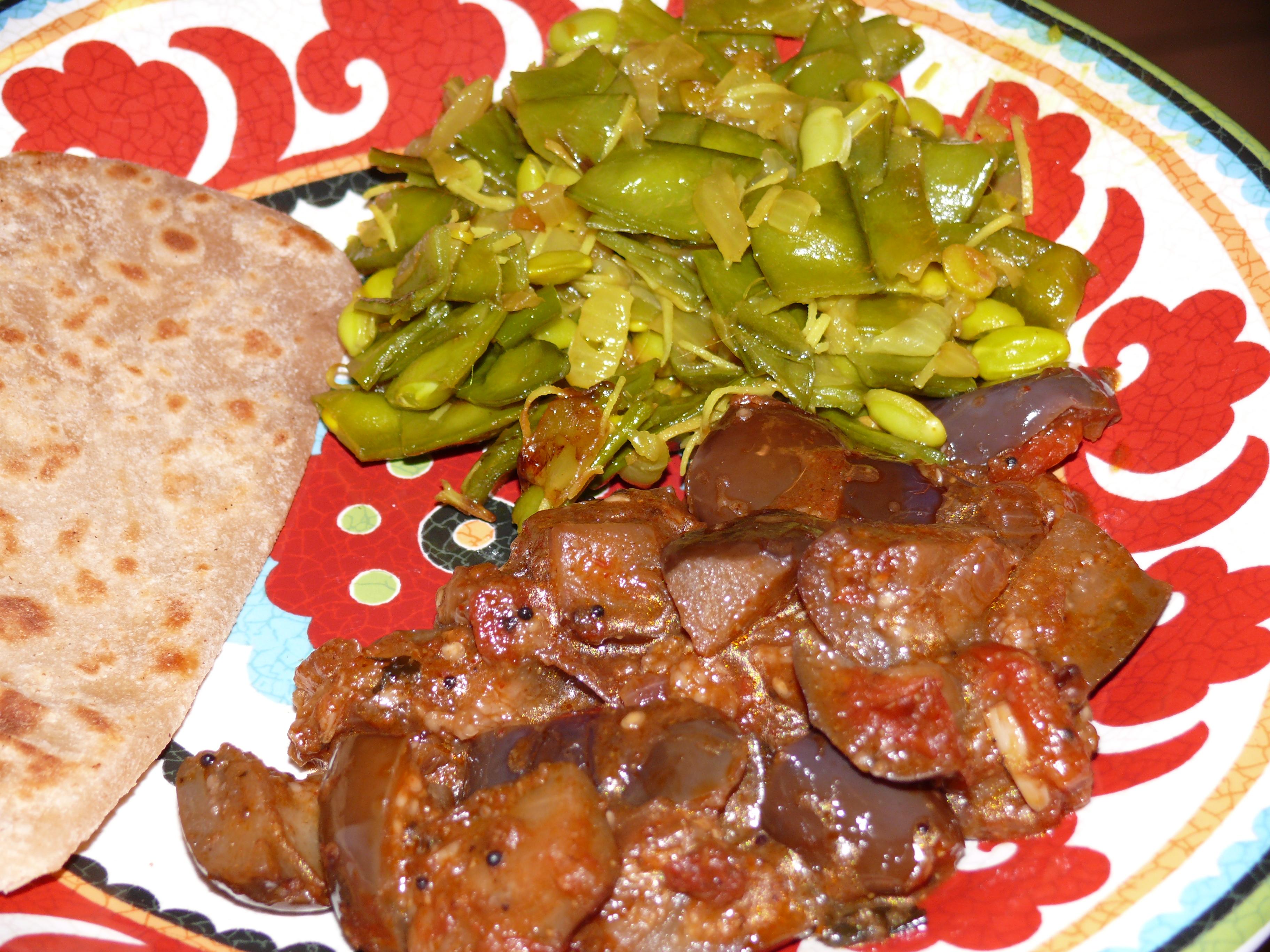 Tamarind Eggplant & Cocout Broadbeans