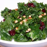 Kale Pine Nut and Cranberry Salad
