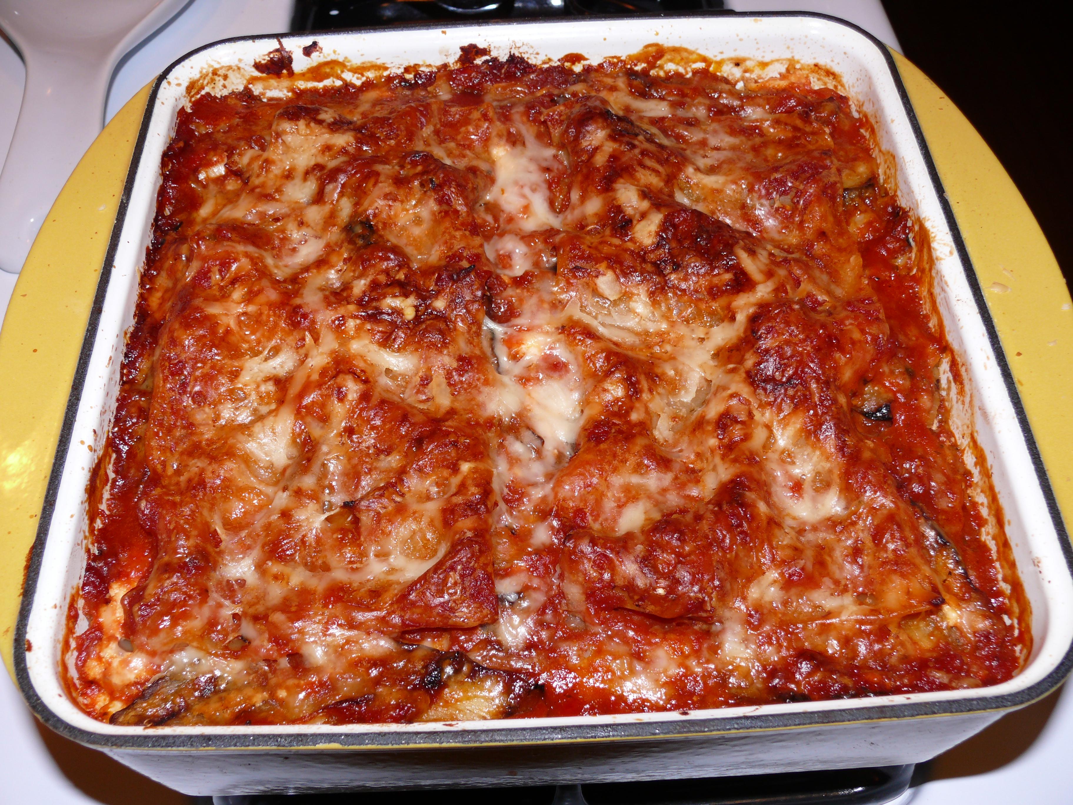 Eggplant & Artichoke Lasagna 1