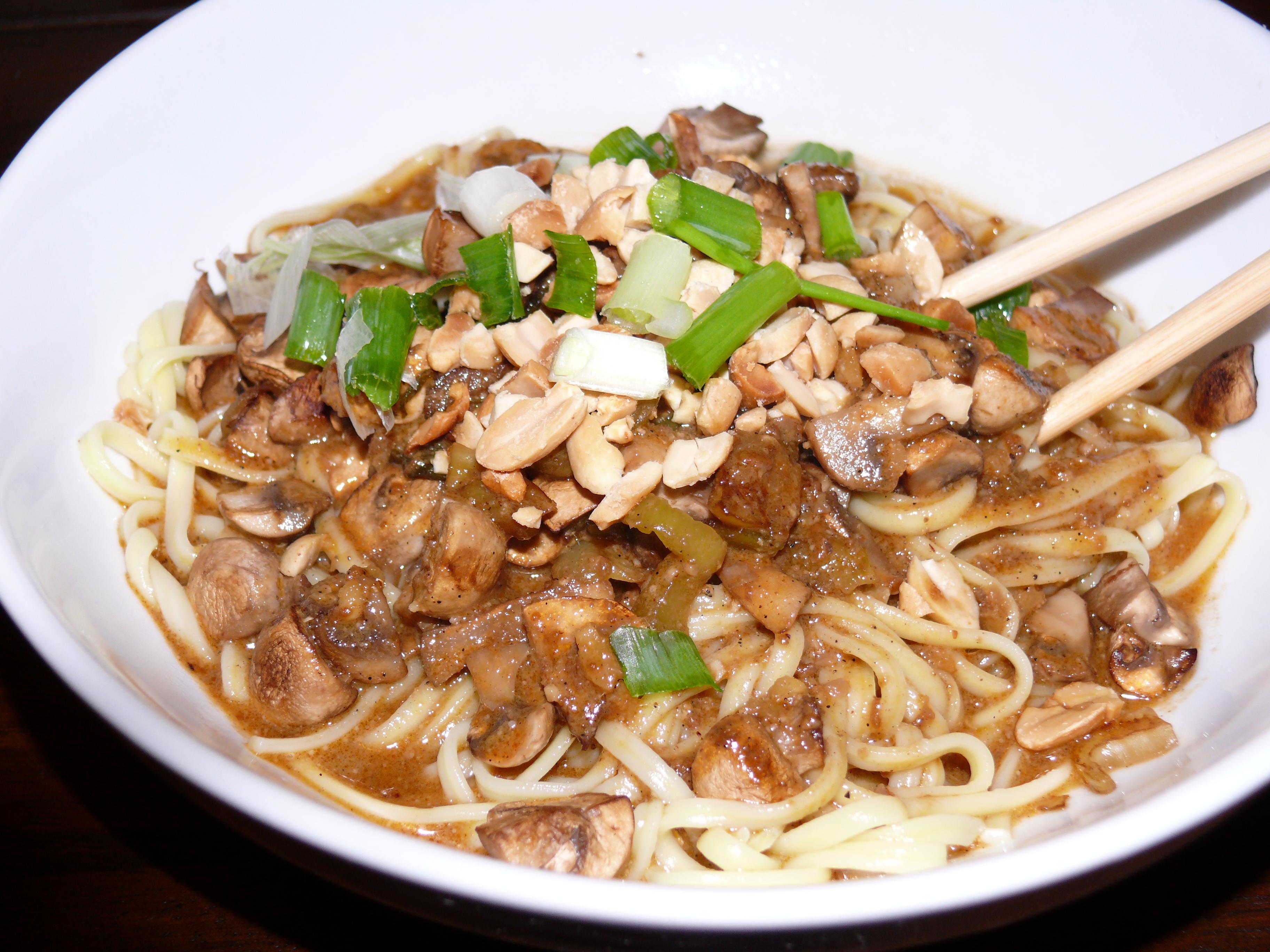Mushroom Dan Dan Noodles New