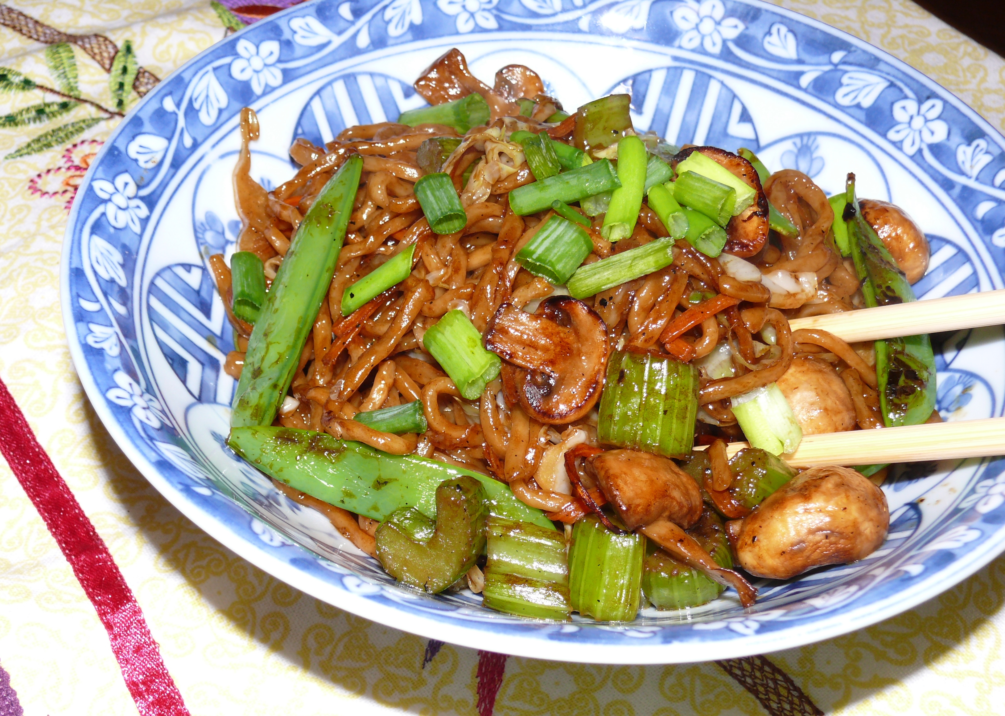 Vegetable Soy Sauce Chow Mein