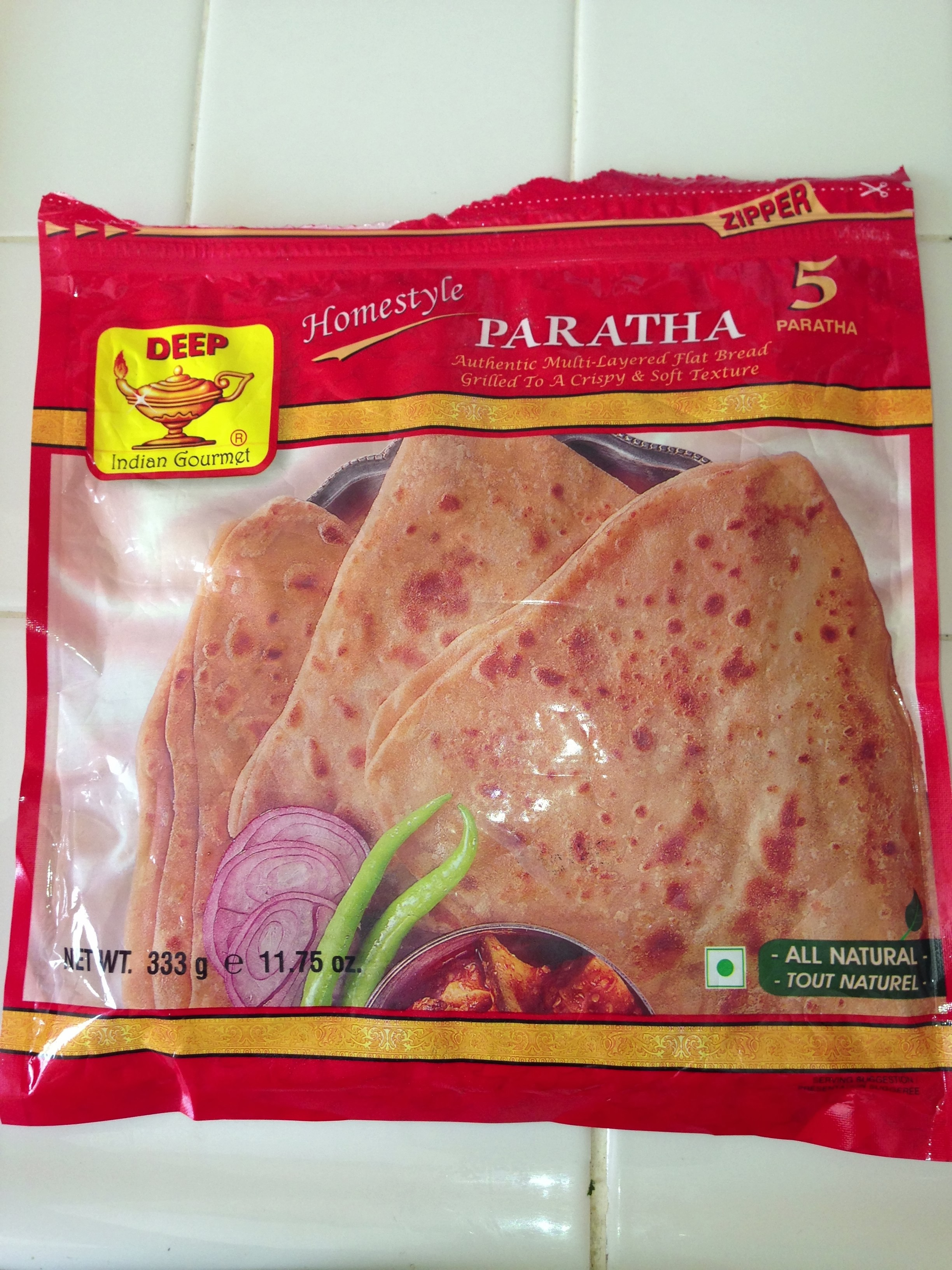 Frozen Paratha