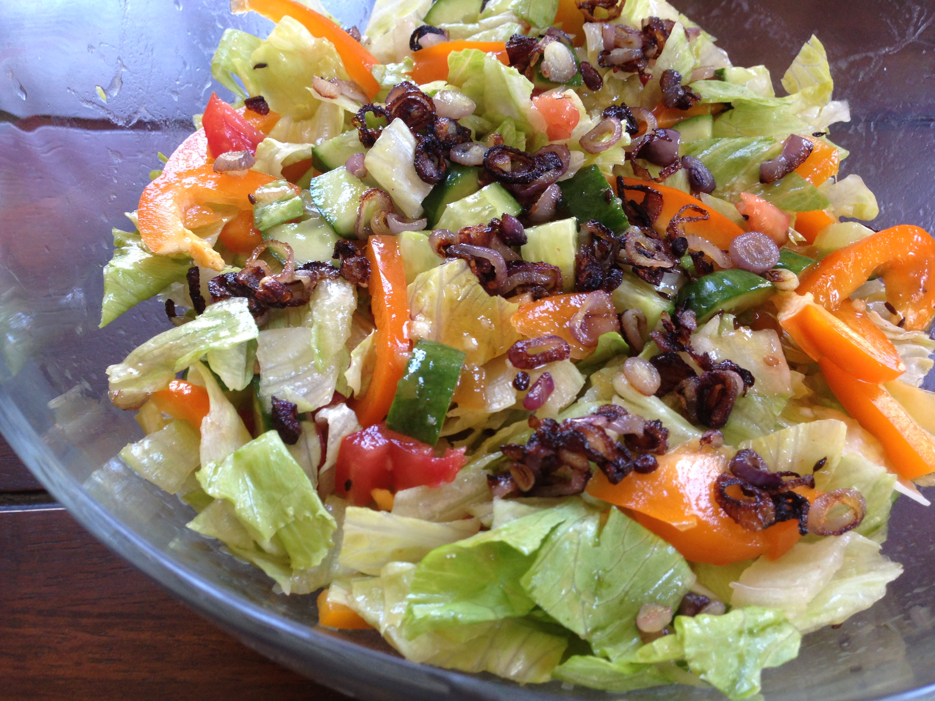 salad with cumin vinaigrette