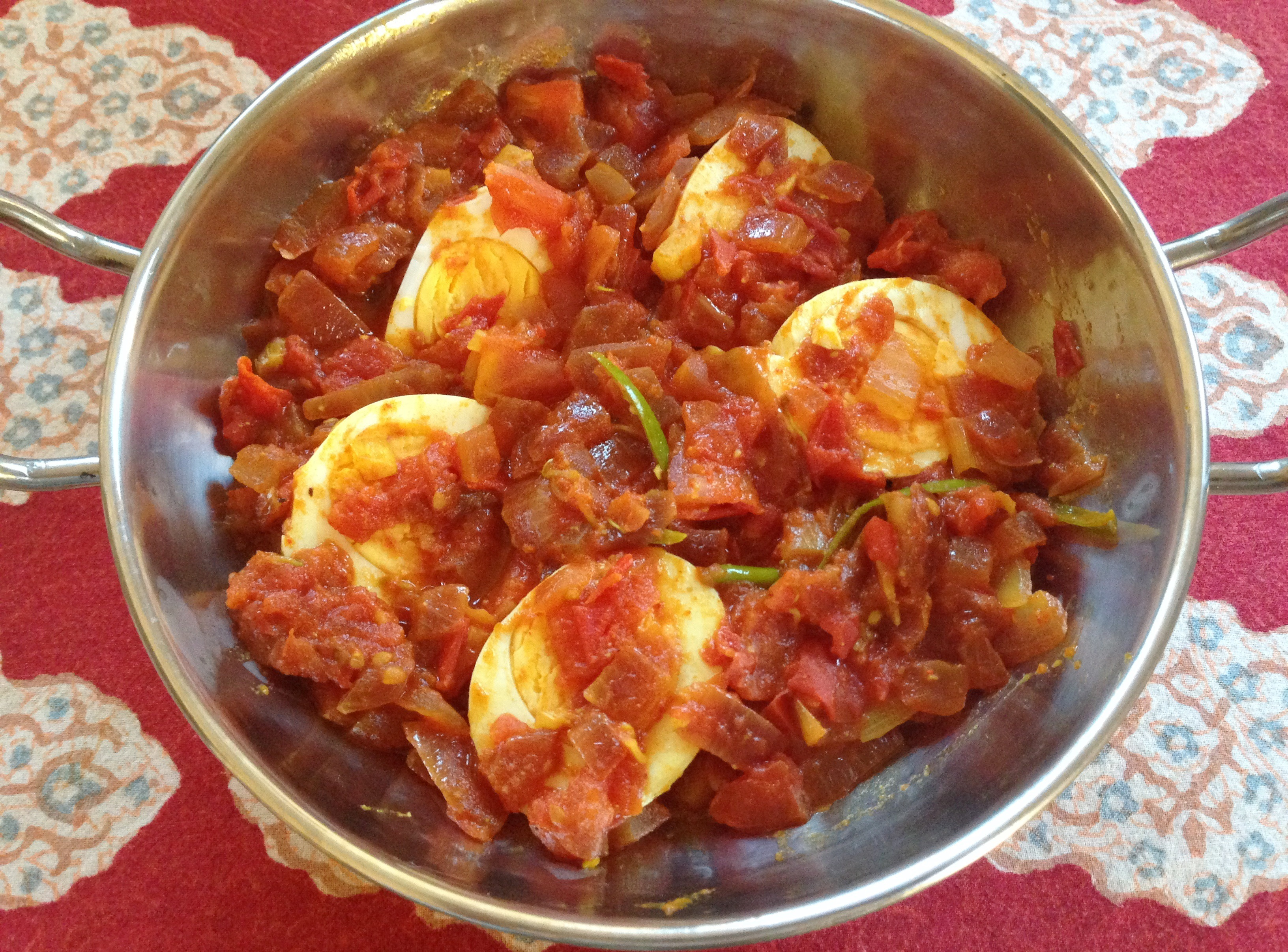 tomato egg curry