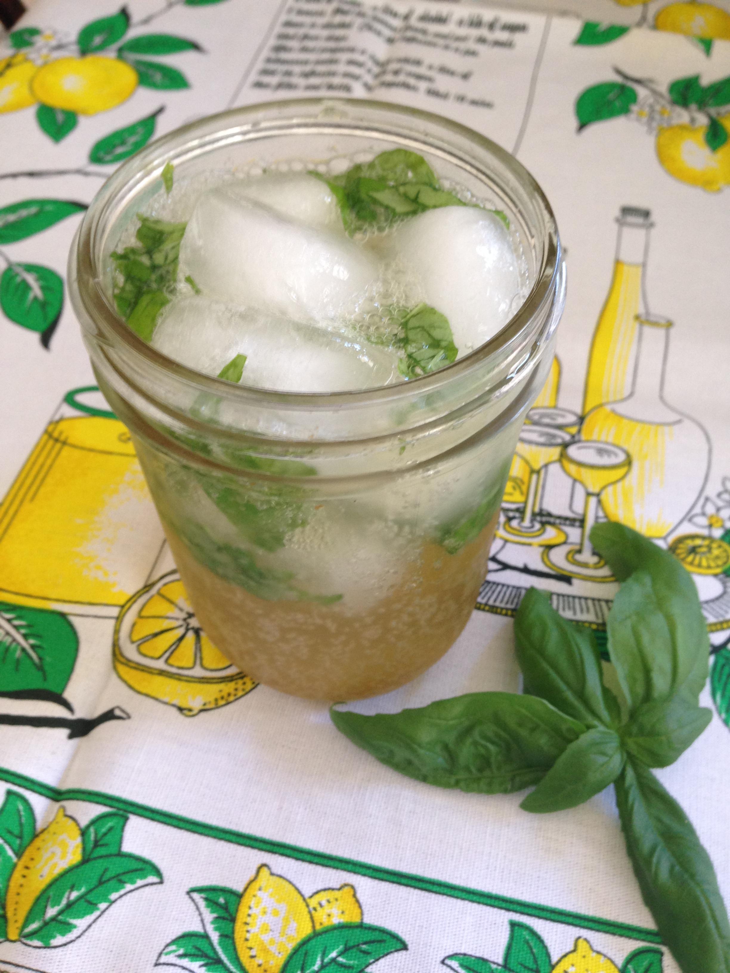 Basil Brown Sugar Lemon Soda