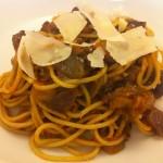 Eggplant and Tomato Spaghetti
