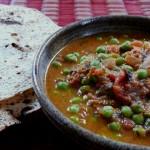 Pea & Tomato Curry with Kasoori Methi