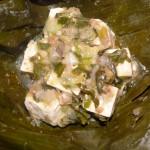 lao tofu in banana leaf 3