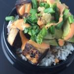 Teriyaki Tofu Bowls Avocado